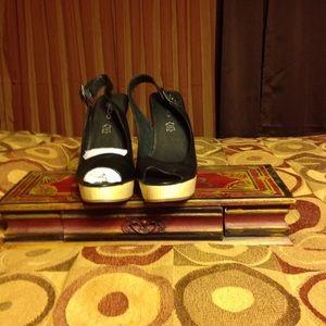 Slingback Wedge Heel